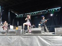 City of the Weak rocking out on the Axis Campgrounds stage.