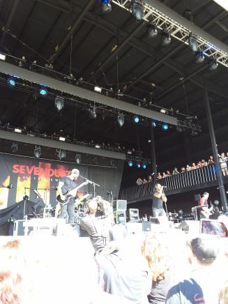 Sevendust rocking out the main Bud Light Stage